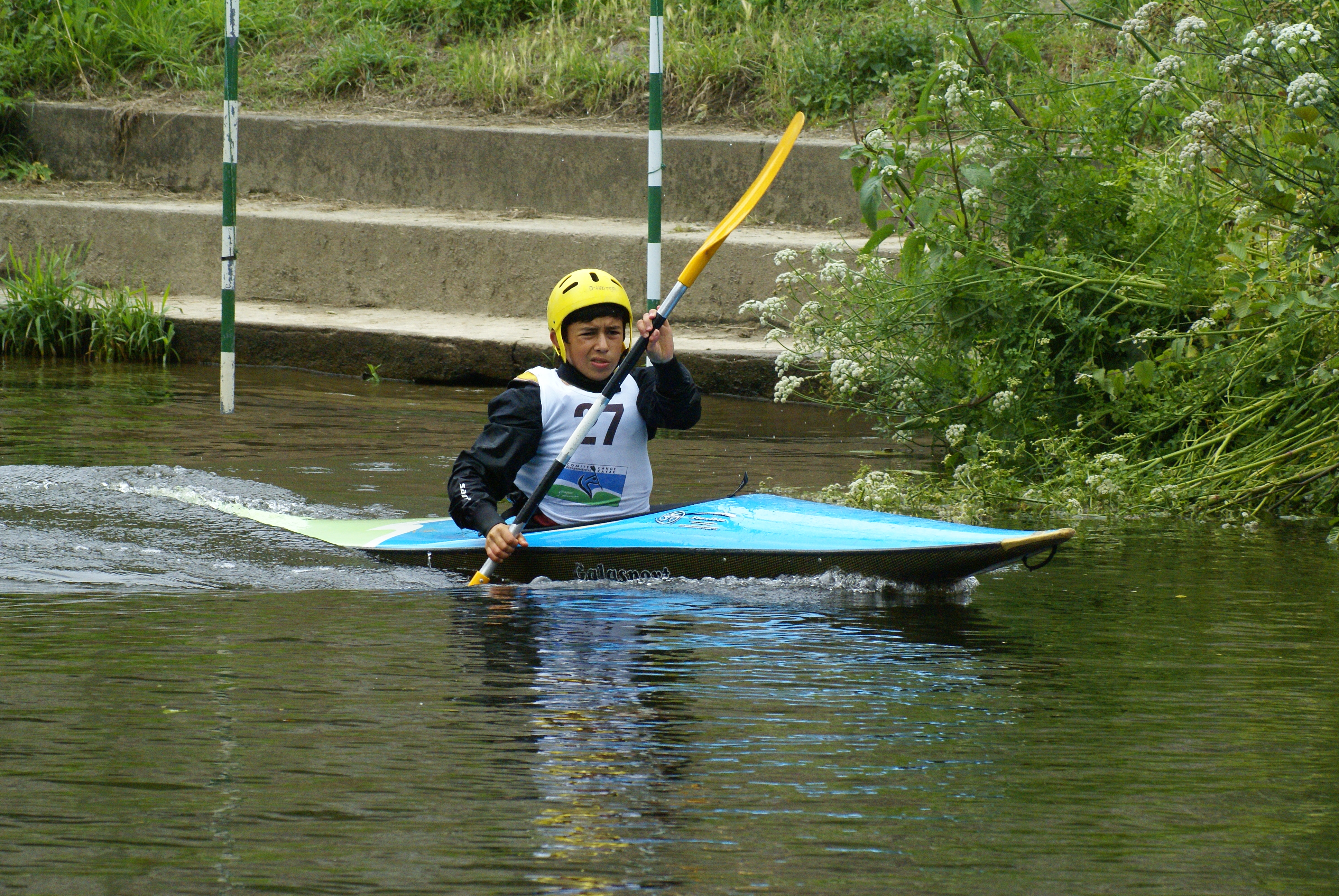 Yassine en slalom